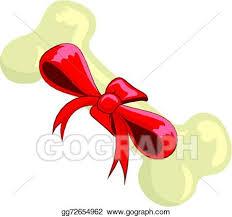 christmas dog bone clipart. Unique Clipart Christmas Dog Bone With Red Ribbon For Clipart T