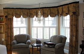 Decorations:Bay Windows Design With Small Curtain Decor Luxury Bay Window  Design Idea With Elegant