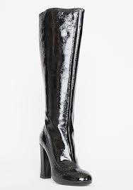 home shoes boots miu miu tall black patent leather wingtip boots 39