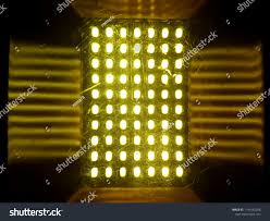 Yellow Round Light Abstraction Yellow Round Lights Bright Square Stock Photo