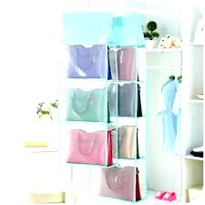 storage bags hanging mesh toy organizer bag multi purpose folding wardrobe closet ikea