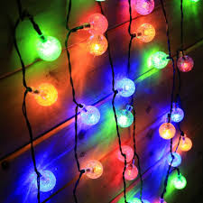 5m 30 led cotton ball light string solar lights outdoor large indoor party new year