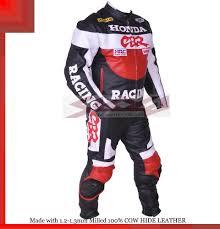 Leather Jacket Size Chart Honda Cbr Racing Leather Motorcycle Full Suit Jacket Trouser All Sizes Ebay