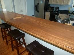 1 5 thick bamboo countertop with diamond inlay 1 8 roundover edge treatment
