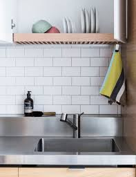 Kitchen: Stainless Steel Dish Drying Rack With Wall Decals - Drying  Organizer