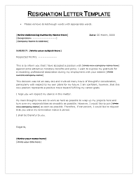 Ideas of Printable Letter Resignation Template Word Free Also Job Summary