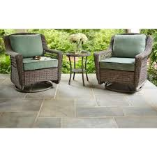 outdoor wicker rocking chairs with cushions. hampton bay spring haven grey all-weather wicker patio swivel rocker chair with bare cushion outdoor rocking chairs cushions a