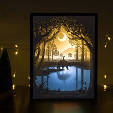 creative led lighting. Amazon.com: Papercut Light Boxes, 3D Shadow Box Led Night Lamp, Decorative Mood For Kids And Adults, Baby Nursery Bedroom Living Room Creative Lighting I