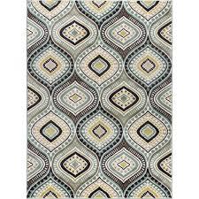 5 x 7 medium aqua blue brown and gold area rug capri rc willey furniture