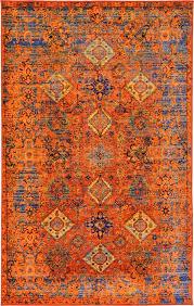 wonderful amazing orange and blue area rug rugs decoration with pertaining to ideas 2