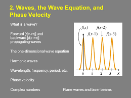 waves the wave equation and phase velocity what is a wave forward