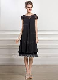 Empire-Linie U-Ausschnitt Knielang Chiffon Kleid für die ...