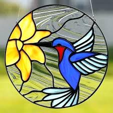 stained glass hummingbirds hummingbird patterns free stain humming bird window hanging
