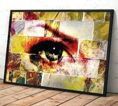 graham brown blue ink abstract framed print wall art