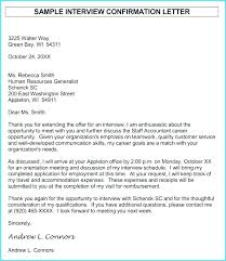 How To Confirm An Interview Interview Confirmation Email Template