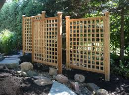 A trellis not only adds beauty to your landscape but function as well. This  grouping