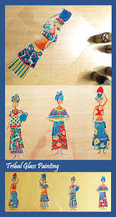 Diwali Glass Painting Designs Tribal Painting On Ohp Sheet Tribal Art Has Always