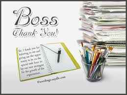 Thank You Notes To Boss Beauteous Thank You Notes For Boss Wordings And Messages