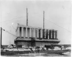 lincoln memorial building. construction of the lincoln memorial us national park service building