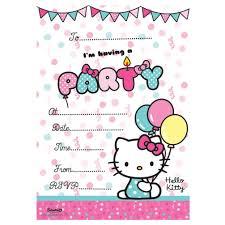 Hello Kitty Invitation Hello Kitty Invitations With Envelopes Pack Of 20