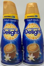 Coffee cookie dough french vanilla hazelnut mint mocha pumpkin sweet cream toffee vanilla coffee creamer half and half 1 percent. International Delight Coffee Creamer French Vanilla 2 Pack 32 Oz Amazon Com Grocery Gourmet Food