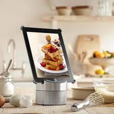 Kitchen Tablet Holder Mahogany Kitchen Furniture Wooden Varnished Cabinet Cookbook