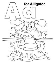 Small Picture Nobby Design The Letter A Coloring Pages Printable Alligator With