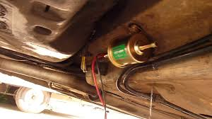how to convert any in tank electric fuel pump to an external inline picture of fit your new pump seurely to the bodywork under the vehicle or inside