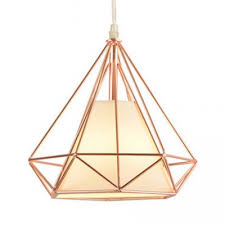 metal diamond cage ceiling lamp living