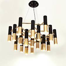 gold chandelier light rose lighting