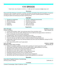 Salon Manager Resume Template Marvelous Salon Manager Resume Examples On Salon Manager Resumes 10