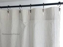 ticking stripe shower curtain black