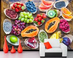 food art wallpaper. Perfect Food A Variety Of Fruit Food Art Wallpaperliving Room TV Wall Bedroom Kitchen  Coffee Shop For Food Art Wallpaper