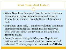 hero or villain the age of napoleon your task just listen when  hero or villain the age of napoleon 2 your
