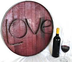 wine barrel head custom made barrel head and ring art live authentic wine barrel head sign wine barrel head