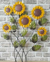 metal wall art sunflower