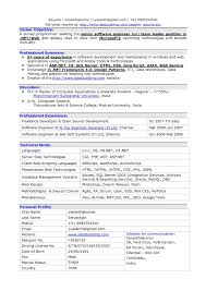 Best Resume Software Template Software Engineer Resume Template