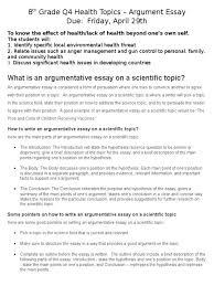 argument or position essay classification prompts example  8th grade q4 health topics essay essays argument position samples 1513328 position argument essay essay medium