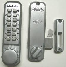 lockey 2500 keyless mechanical digital sliding door hook lock satin chrome