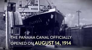 Image result for opening ceremony of the U.S.-built Panama Canal