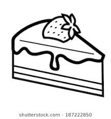 slice of cake clip art black and white.  And Vector Black Piece Of Chocolate Cake On White With Slice Of Cake Clip Art Black And White A