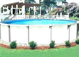 above ground pool landscape pools landscaping ideas designs beaded liners deck kits wood round