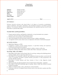 Resume For Dental Assistant Job Assistant Dental Assistant Job Description For Resume 29