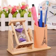 student gifts rotating hourgl pen creative timer office stationery inserts