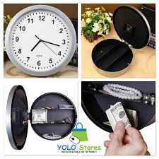 image of wall clock safe wall clock safe secret jewelry security clocks