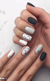 50 Acrylic Coffin Marble Nails Colors Designs 2019 Nehty Nehty
