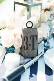 cute table decor! listing for 1 little wedding knot nautical Wedding Lanterns Adelaide brides of adelaide magazine nautical wedding table setting Outdoor Wedding Lanterns