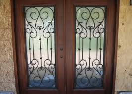 iron glass door installation