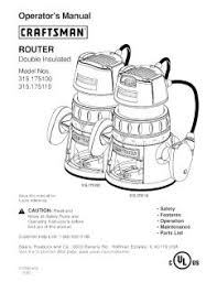 315 175100 craftsman router Craftsman 315 Rouer Wiring Diagram Craftsman 315 Rouer Wiring Diagram #25