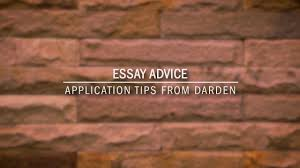 Essay On Advice Darden Admissions Essay Advice